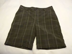 Mens Under Armour Golf Shorts gray plaid size 34
