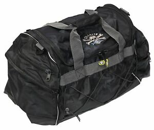 Calcutta Deluxe 5 Pocket Fishing Tackle Black Duffle Bag with Shoulder Strap