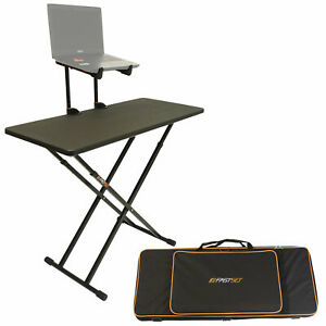 Fastset Fast-Attach Keyboardist Bundle (Black) with Table V2 & Keyboard Stand
