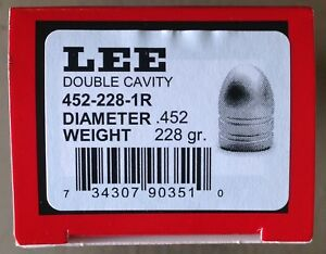 Lee 2-Cavity  Bullet Mold 452-228-1R--#90351- .45 Caliber 228 gr. Round Nose