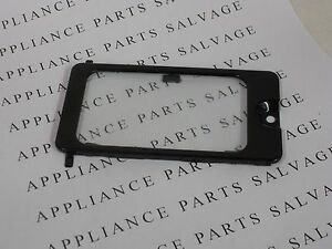 5304464102, 5304464103 MICROWAVE OVEN LIGHT COVER AND GLASS LENS BLACK NEW PULL