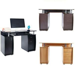 Computer Desk PC Laptop Table wDrawer Home Office Study Workstation 3 Colors