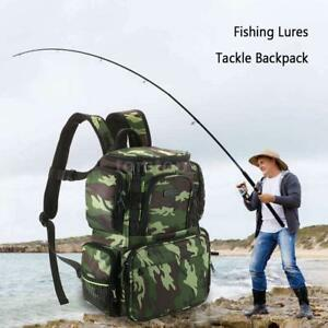 Lixada Fishing Tackle Bag Backpack Fishing Lures Bait Box Storage Bag C0K3