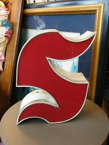 Letter S Gothic Red Brand name Lighting Shop years 60 Deco Loft 13in N2