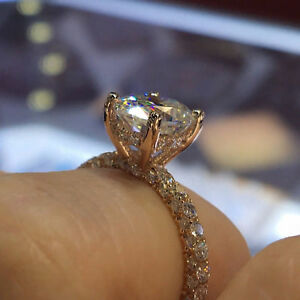 2.50 CT Diamond Oval Shape Solid 14k Yellow Gold Halo Engagement Wedding Ring