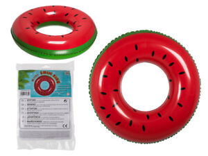 QUALITY FUNKY WATERMELON NOVELTY INFLATABLE SWIM RING POOL FLOAT RAFT LILO GBP 5.99