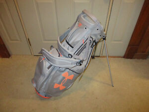 Used UNDER ARMOUR WOMEN'S UA STORM SPEEDROUND STAND GOLF BAG Grey  Orange