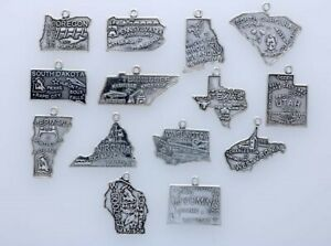 Sterling Silver State Charm Choice of State