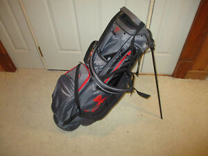 Used UNDER ARMOUR WOMEN'S UA STORM SPEEDROUND STAND GOLF BAG Graphite  Black