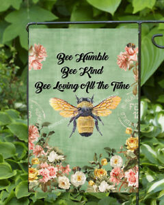Bee Humble Bee Kind Garden Flag * Double Sided * Top Quality By Flags Galore