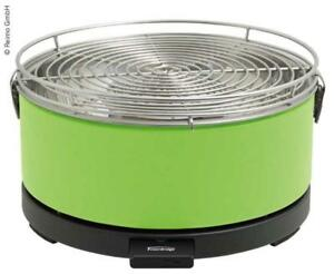 Fire Design Grill Mayon ø13in  Green Charcoal Table Grill with Grill Tongs