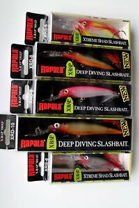 Lot of 5 Authentic RAPALA X-RAP XRD XRS Lures Assorted