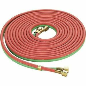 Red Green Twin Welding Torch Hose Oxygen Acetylene Oxy 25 1 4 for Cutting $26.49