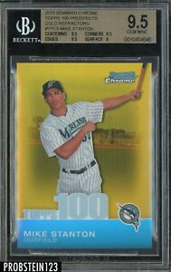 2010 Bowman Chrome Gold Refractor Mike Stanton Yankees 50 BGS 9.5 GEM MINT