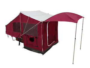 Motorcycle Camping Trailer used to Pull Behind Camper Tow Travel PopUp Tent