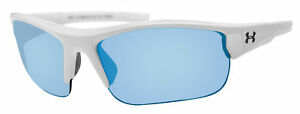 Under Armour propel satin white crystal gray blue mirror lens 8600106 111761 new $64.99