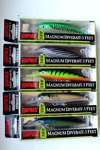 Lot of 5 Authentic RAPALA X-Rap Magnum XRMAG05 Lures Assorted