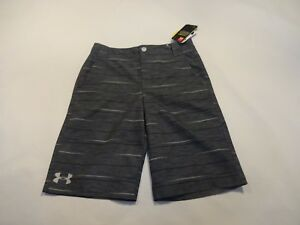 NEW Boys Youth Under Armour Golf Shorts Youth Large YLG Gray printed