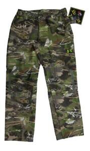 Under Armour Men Storm GORE_TEX Essential Rain Pant Hunting 1259193 $225 Camo XL