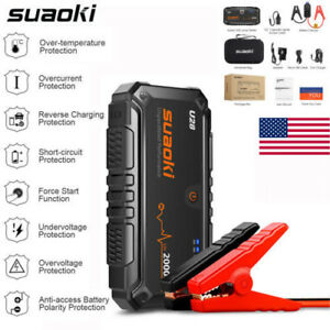 2000A Car Jump Starter Booster Portable Battery Charger Power Bank Core Suaoki