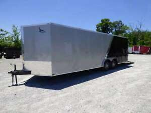 Enclosed Trailer 8.5#x27;x24#x27; Silver amp; Black V Nose