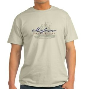 CafePress Mayflower Descendant Light T Shirt 100% Cotton T Shirt 331488242