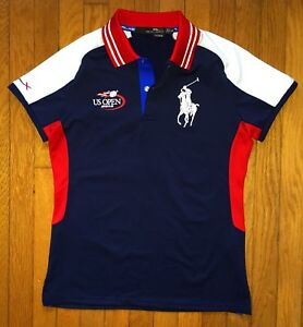 Women's Polo Ralph Lauren Big Pony 2013 RLX US Open Tennis Dri Fit Polo Shirt S
