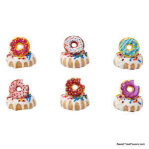 DONUTS Shop CupCake Cake Topper 12 18 24 Decoration Birthday Party Confetti Food