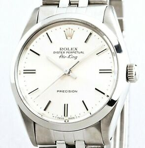 Rolex Air King Mens Stainless Steel Watch Jubilee Band Bracelet White Dial 5500 $4323.98