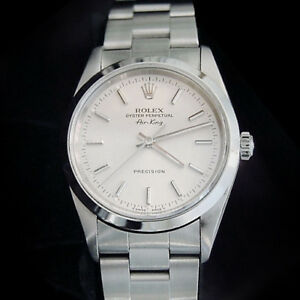 Rolex Air King Mens Stainless Steel Watch Sapphire Crystal Silver Dial 14000 $4139.98