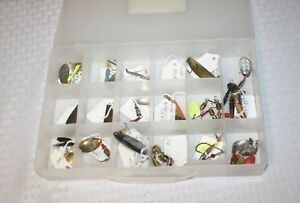 Collectors Lot of Vintage Metal Fishing Lures Most Identified In a Case