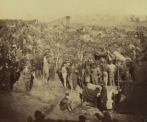 New 8x10 US Civil War Photo View of Andersonville prison camp from gate 1864 $7.64