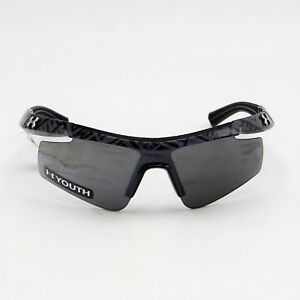 Under Armour Dynamo 8600067-008801 Shiny Black  Grey Lens Sunglasses Youth