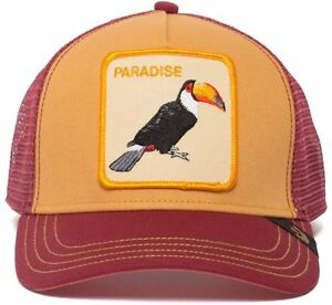 Goorin Bros Animal Farm Trucker Baseball Hat Cap Toucan Tropical Parrot Paradise