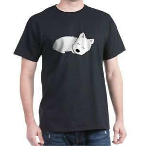CafePress Sleeping Westie Dark T Shirt 100% Cotton T Shirt 204333658
