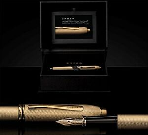 Cross Townsend 20th Anniversary Fountain Pen Heavy Gold Plate Solid 18K Nib