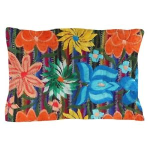 CafePress Mexican Flower Embroidery Pillow Case (1659649142)