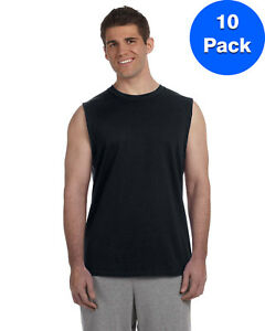 Gildan Mens 6.1 oz. Ultra Cotton Sleeveless T-Shirt 10 Pack G270 All Sizes