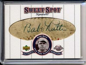 Babe Ruth 2001 Sweet Spot Signatures Classic Signed! Cut Autograph 11 Auto !!!