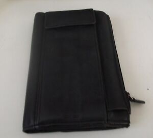 FOSSIL black snap leather women's wallet