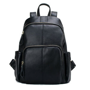 Design Fashion Real Leather Backpack Genuine Leather Women's Backpacks Ladies