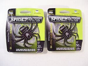 NEW SPIDERWIRE STEALTH GLOW VISBRAID FISHING LINE 20LB OR 50LB YOU CHOOSE
