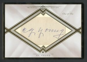 2016 Topps Transcendent CY YOUNG Autograph AUTO OVERSIZED 11 Cut Card Signature