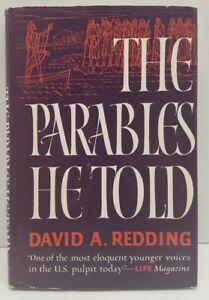 The Parables He Told by David A. Redding HCDJ Book Signed Autographed 1960 Rare
