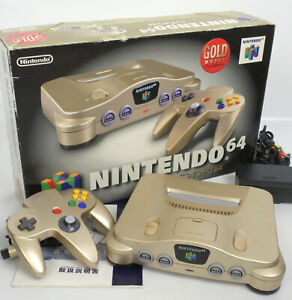 Nintendo 64 GOLD Console System Boxed Tested JAPAN Game RefNUJ15009402