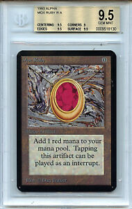 MTG Alpha Mox Ruby BGS 9.5 Gem Mint Magic WOTC Card 8130