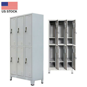 US Sell 6 Compartment  Metal school gym storage employee-lockers cabinets Locker