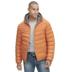Wilsons Leather Mens Web Buster Designer Brand Hooded Reversible Quilted Puffy J