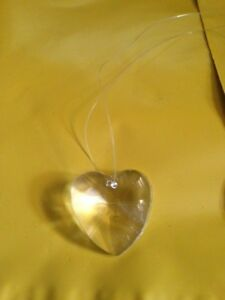 HANGING CRYSTAL HEART SHAPED BRAND NEW ITEM FREE SHIPPING USA