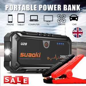 Suaoki 2000A 12V Car Jump Start Starter Battery Charger Power Bank Booster LED